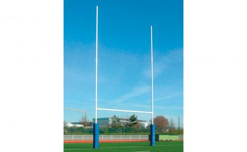Metalu Plast aluminium rugby goal with protective foams for posts