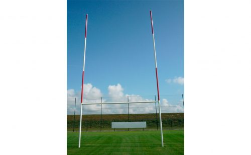 Aluminium rugby goal on hinges