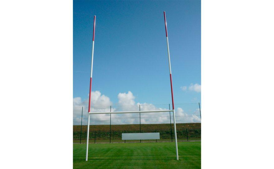 But de rugby en aluminium avec charnière Metalu Plast équipement de sport