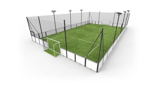 Terrain de soccer sur mesure - structure acier plastifié - panneau sandwich