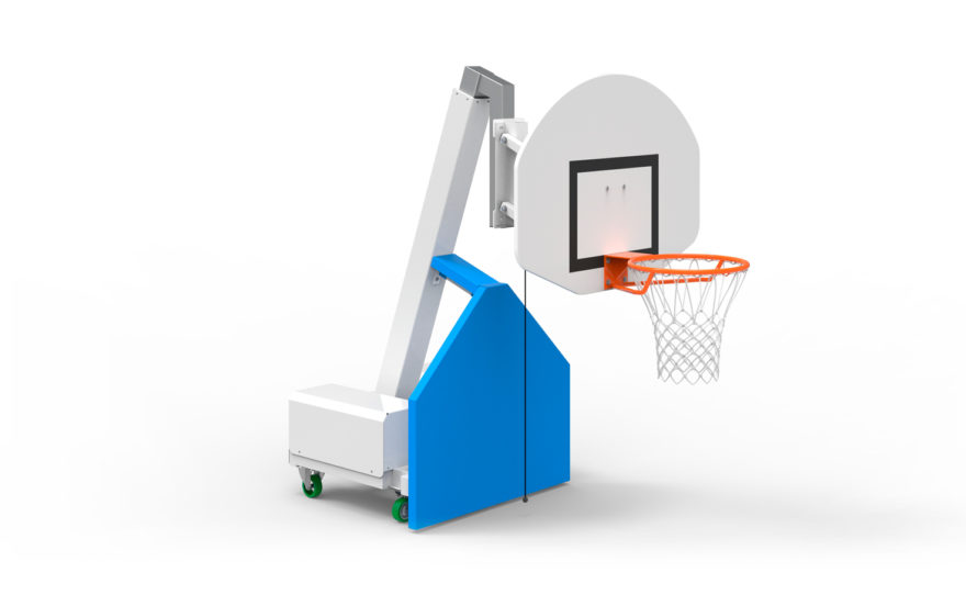 Mobile basketball hoop 6 height, telescopic mast, with wheels