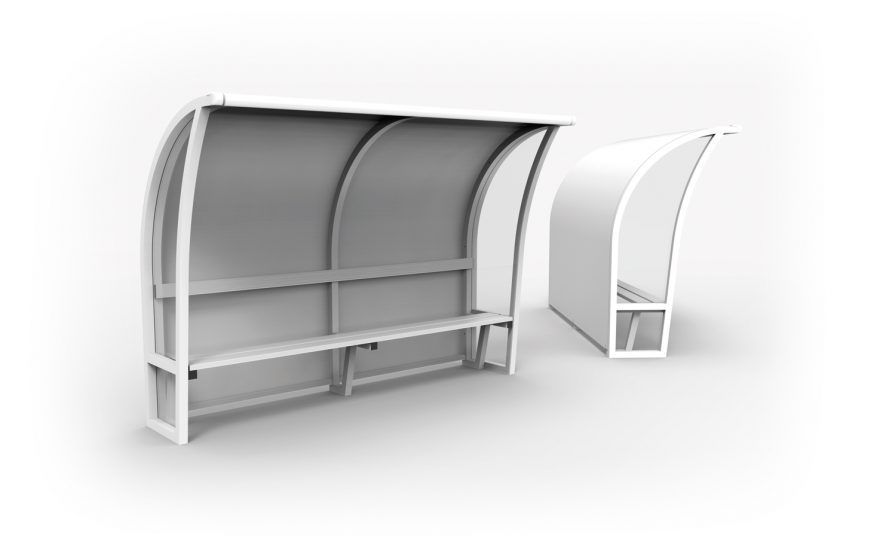 Arched one-piece team shelters Metalu Plast sports equipment