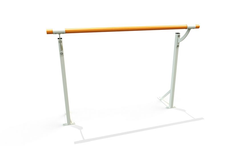 Single floor mount barre and stanchion