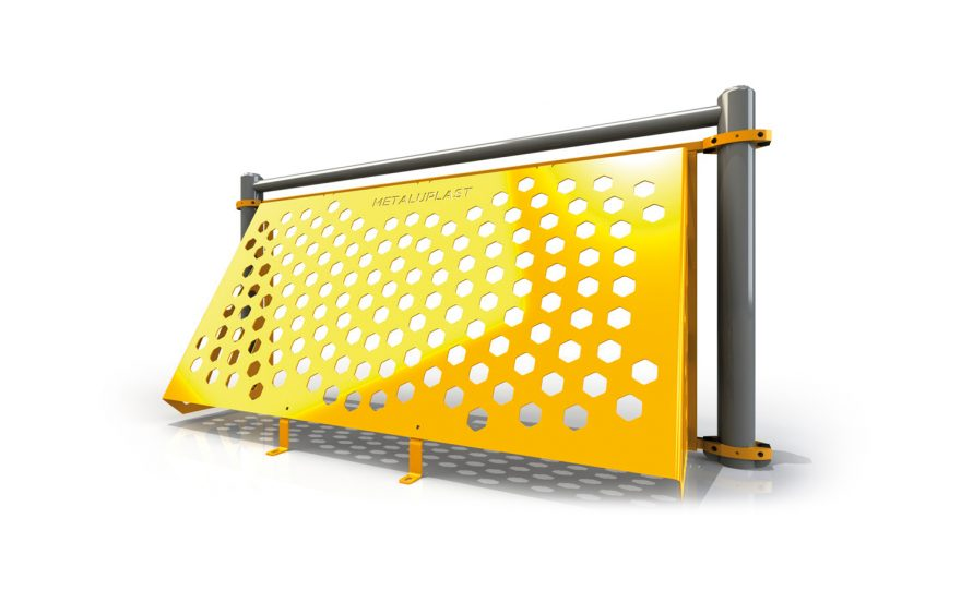 Plastic-coated steel brazilian goal