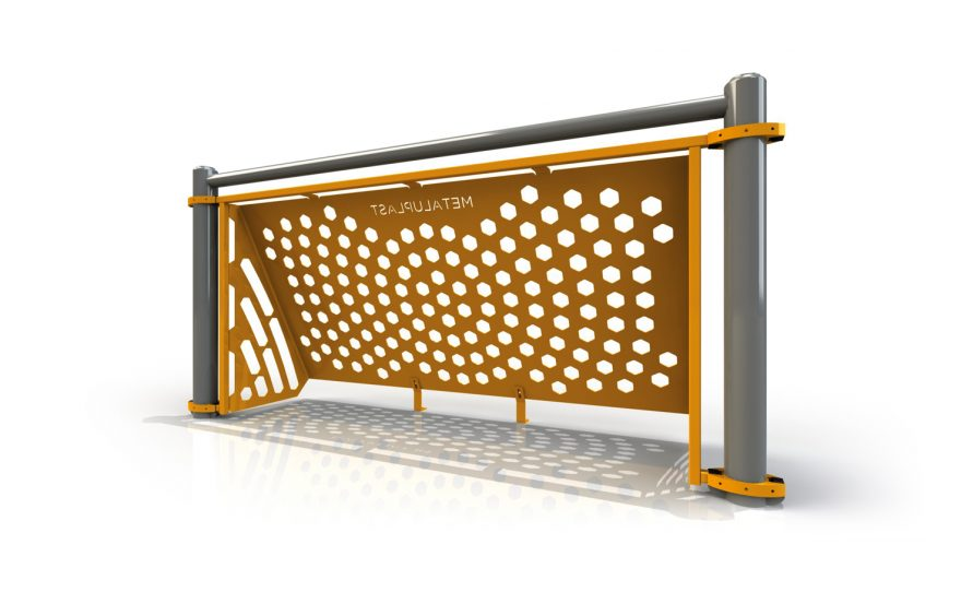 One-piece Brazilian goal for multi-sport field Metalu Plast