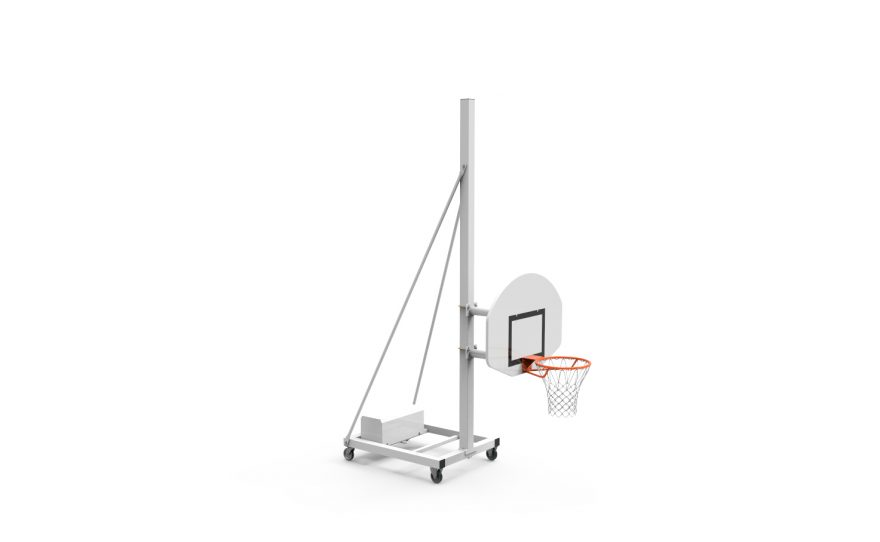 But de basketball mobile pour entraînement avec tête fixe hauteur 120 Metalu Plast