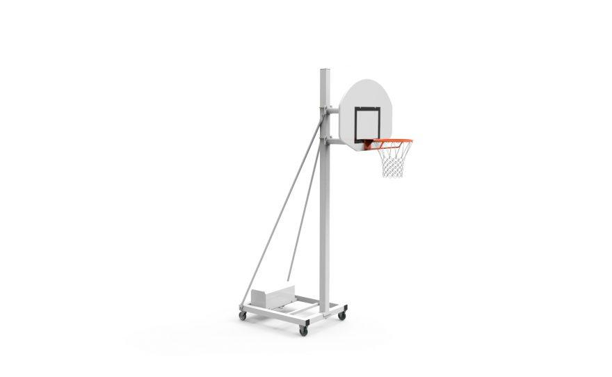 But de basketball mobile pour entraînement avec tête fixe hauteur 2.60 Metalu Plast