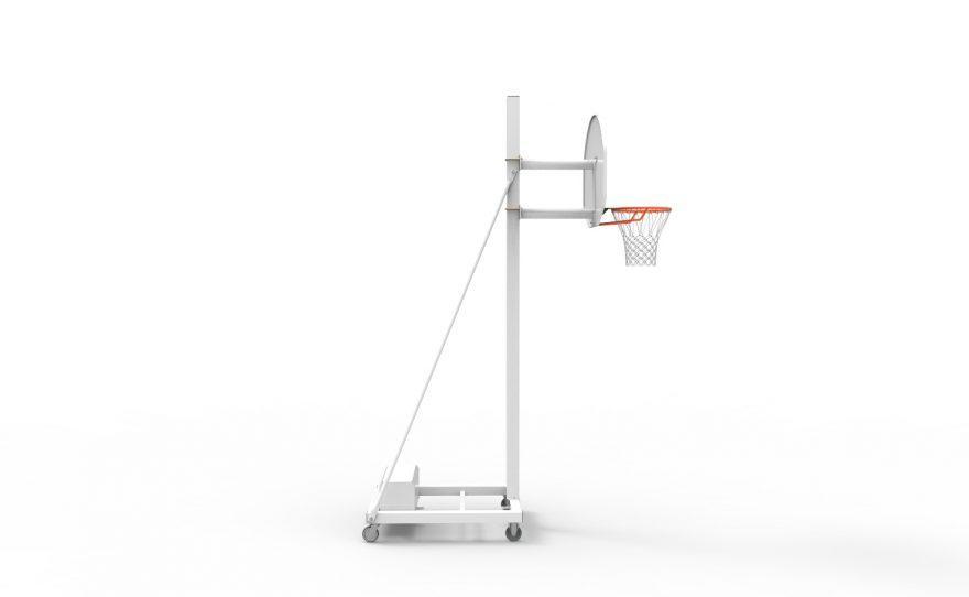 But de basketball mobile spécial entraînement avec hauteur fixe 2.60 Metalu Plast