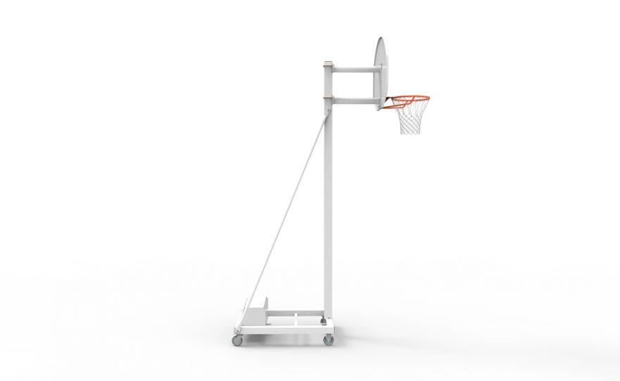 But de basketball mobile spécial entraînement avec hauteur fixe 3.05 Metalu Plast