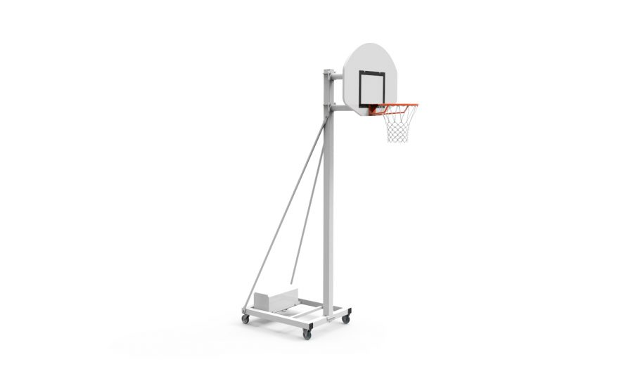 But de basketball mobile pour entraînement avec tête fixe hauteur 3.05 Metalu Plast