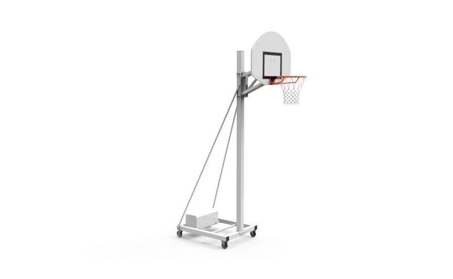 But de basketball mobile avec tête réglable à gaz Metalu Plast