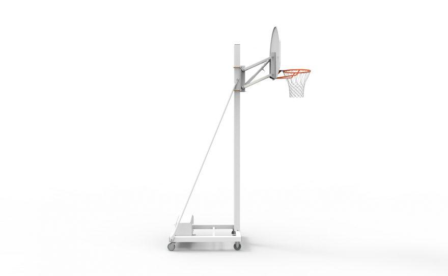 But de basket mobile avec 4 roues pour un déplacement facile Metalu Plast