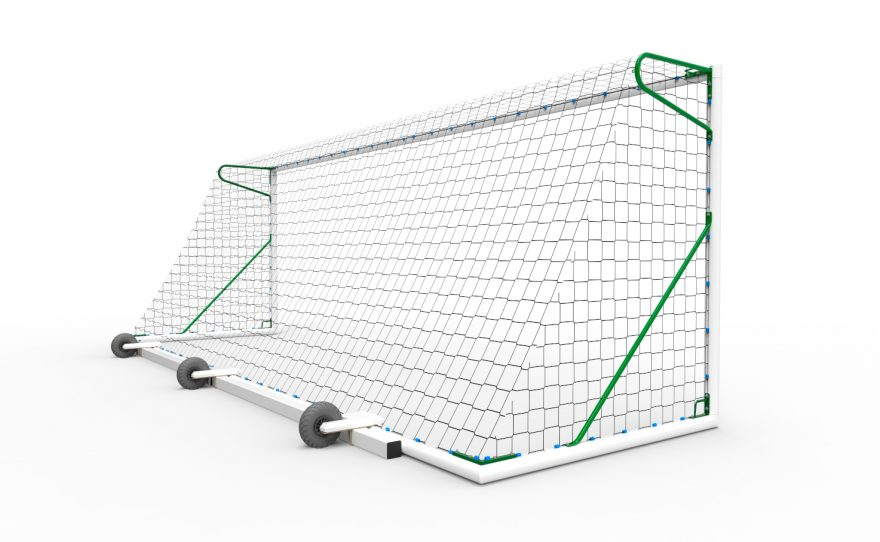 But de foot à 11 transportable en aluminium avec lest Metalu Plast