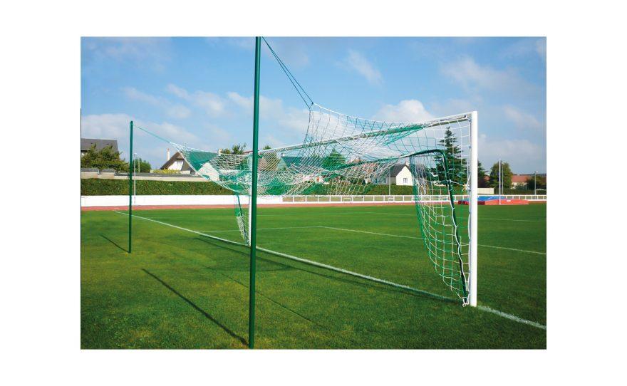 But de football à sceller avec système de relevage du filet Metalu Plast