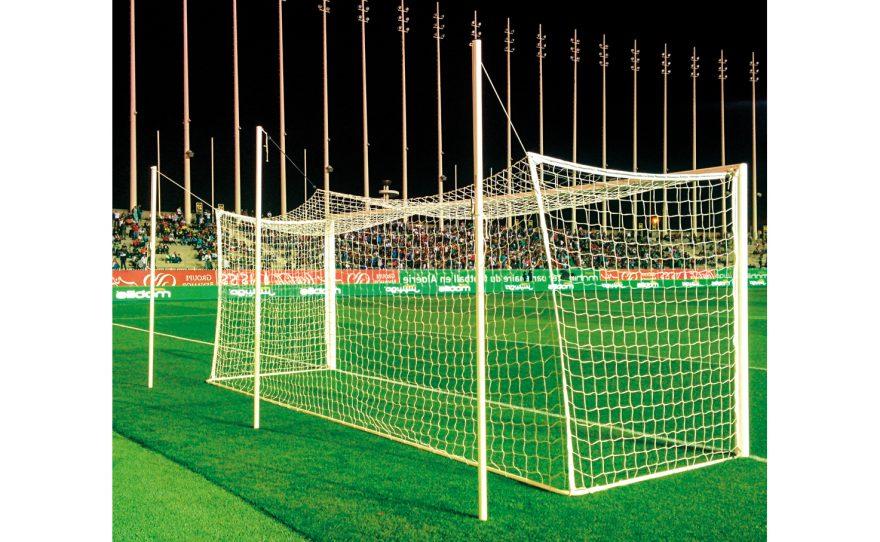 Cage de football de compétition avec filet intégré Metalu Plast