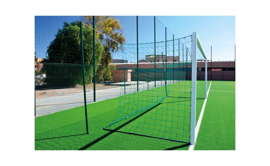 Cage de foot en aluminium avec poteaux ronds Metalu Plast