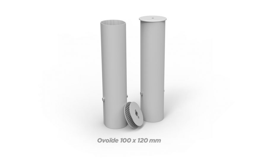 Fourreaux ovoide millenium 100 x 120 mm Metalu Plast matériel sport