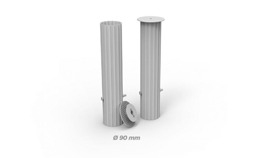 Fourreaux rond de diamètre 90 Metalu Plast matériel sport