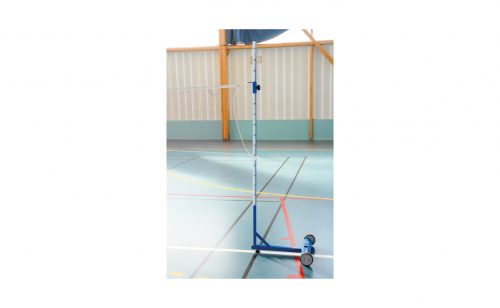 multi uses post for school with adjustable height Metalu Plast sports equipment