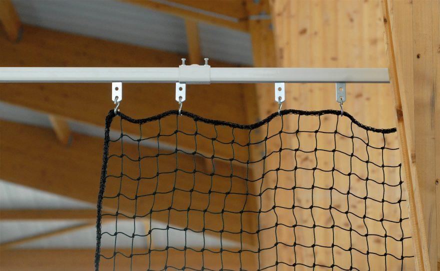 Rail de séparation en acier plastifié Metalu Plast équipement sportif