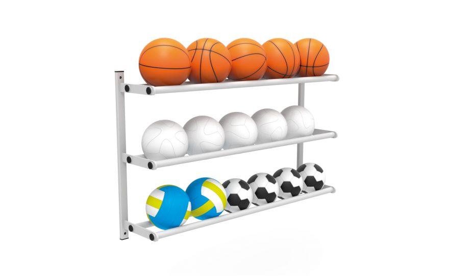 Râtelier porte ballon mural accessoire équipement sportif