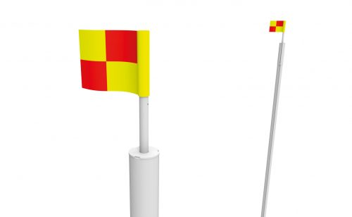 Pennant supports for Metalu Plast rugby goal