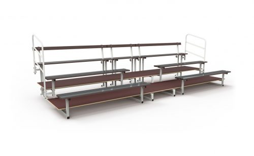 Transportable seating unit Metalu Plast made with square steel tubes 40x40