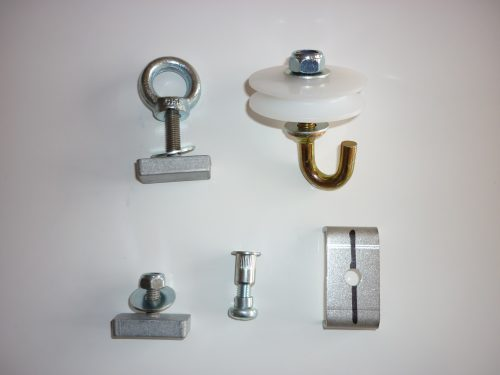 Screws and bolts kit splice bar pulley hook ring washer cable clip