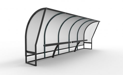 Touch shelters for spectator Metalu Plast sports equipment