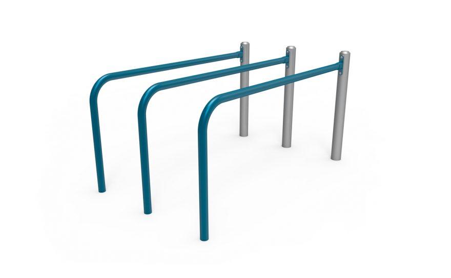 Triple parallel bars Metalu Plast for street workout