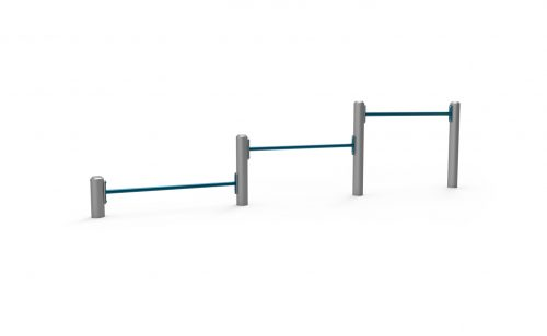 Triple push-up bars Metalu Plast for street workout