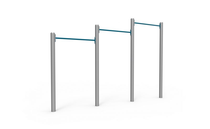 Triple pull-up bars Inferno Metalu Plast for street workout