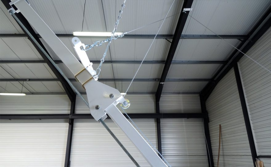 roof mounted basketball goal retractable Metalu Plast sports equipment