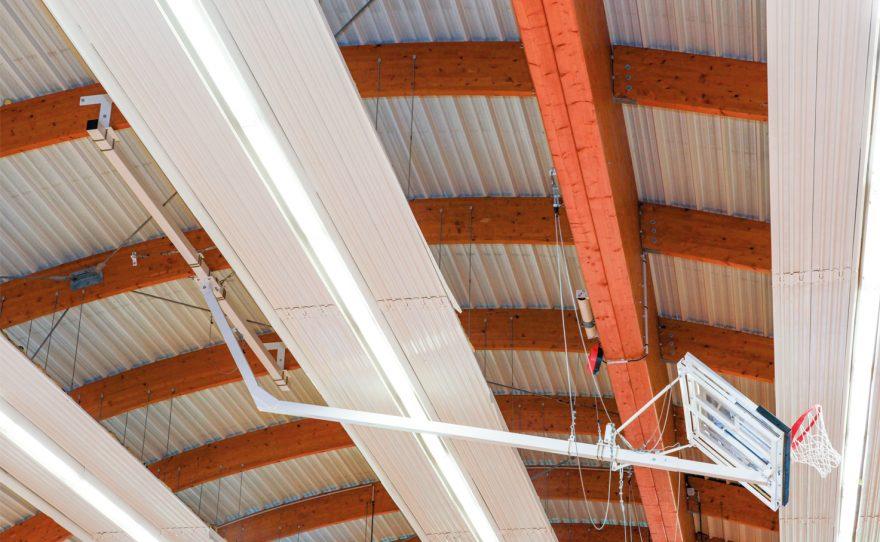custom made roof mounted basketball goal Metalu Plast manufacturer of sports equipment