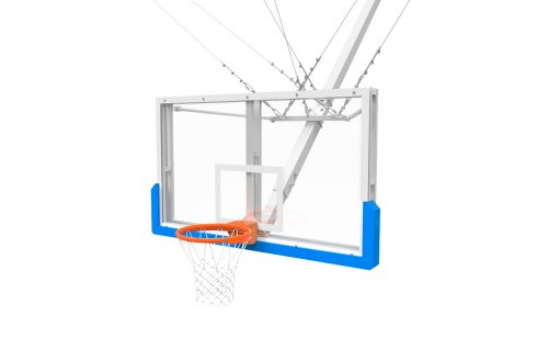 But de basket charpente verre trempé suspendu par câble avec mousse de protection Metalu Plast