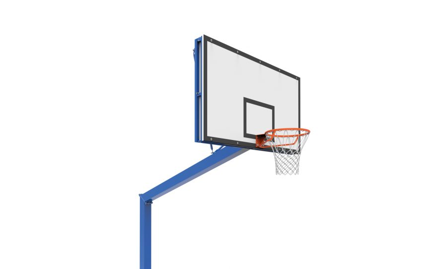 Outdoor basketball competition with adjustable head