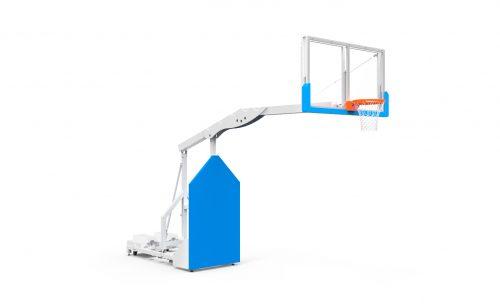 But de basketball intérieur mobile utilisable pour la compétition