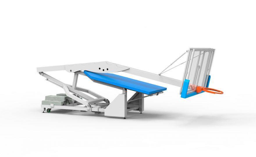 Panier de basket de compétition intérieur mobile replié avec mousse de protection Metalu Plast