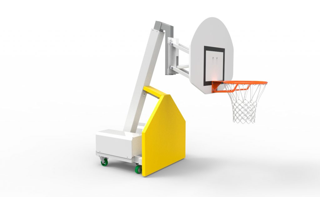 multi heights indoor mobile basketball goal low position for training use Metalu Plast