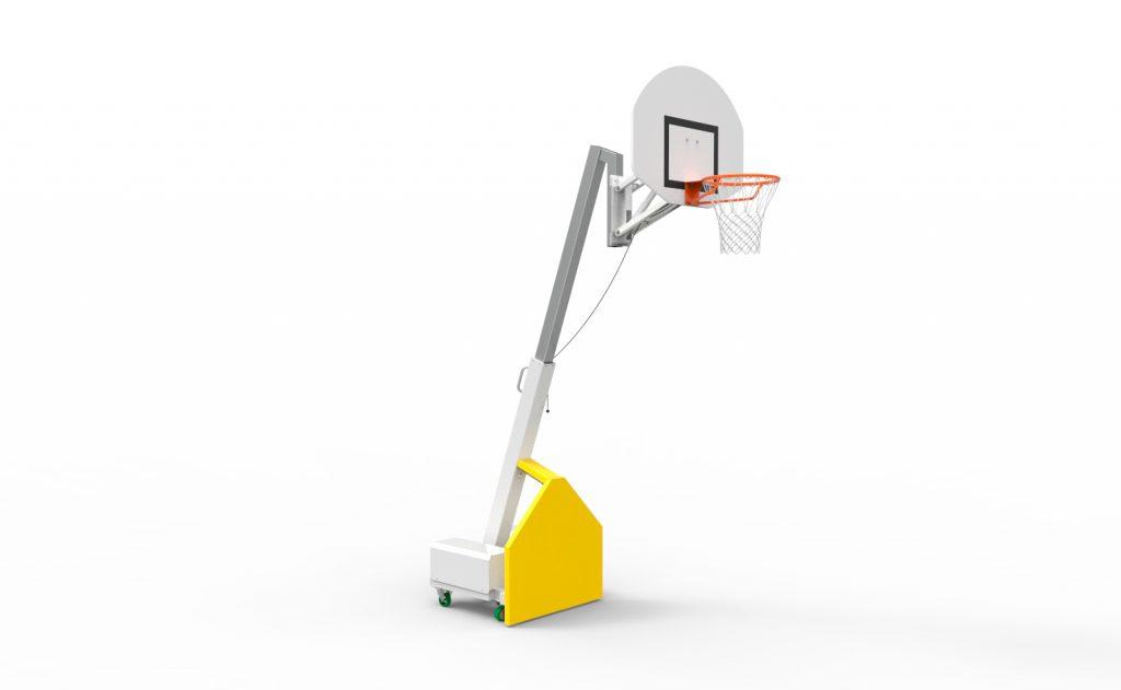 multi heights indoor mobile basketball goal high position for training use Metalu Plast Metalu Plast manufacturer of sports equipment