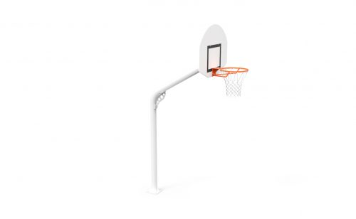 Outdoor training basketball goal with round post