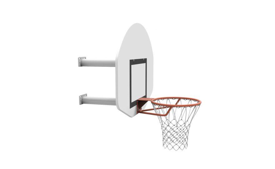 but de basket mural pour l'entraînement avec deux bras Metalu Plast