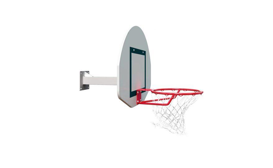 But de basket mural pour entraînement mono tube Metalu Plast