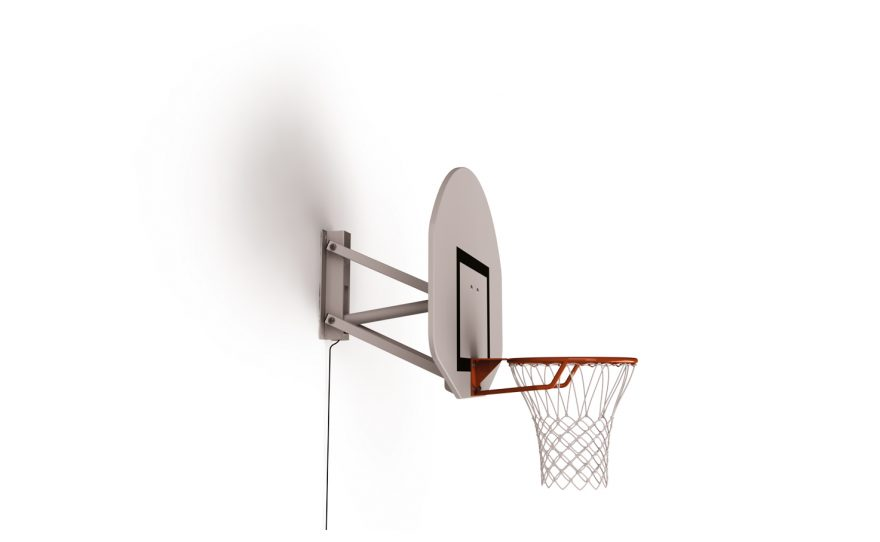 But de basketball mural pour entraînement réglée hauteur basse
