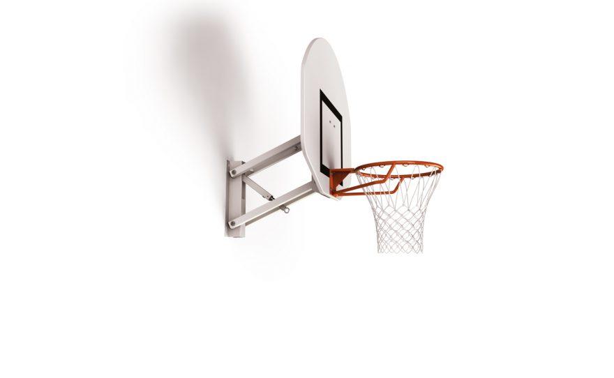 But de basketball mural pour entraînement réglable en hauteur Metalu Plast matériel pour le basket