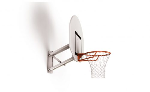 Wall mounted basketball goal adjustable in height with screws Metalu Plast
