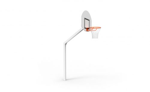 school basketball goal for outdoor training with square post Metalu Plast