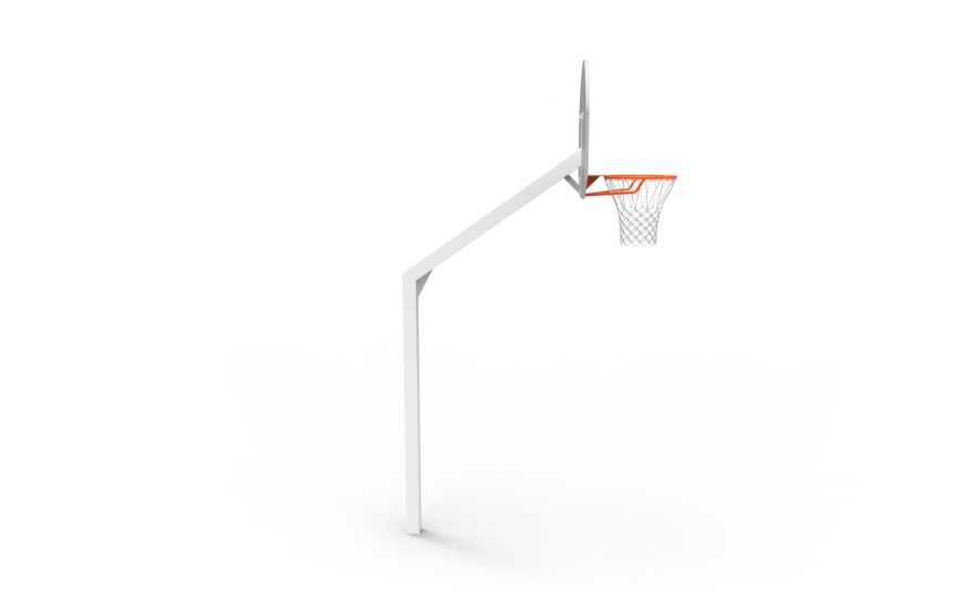 school basketball goal for outdoor training side view Metalu Plast