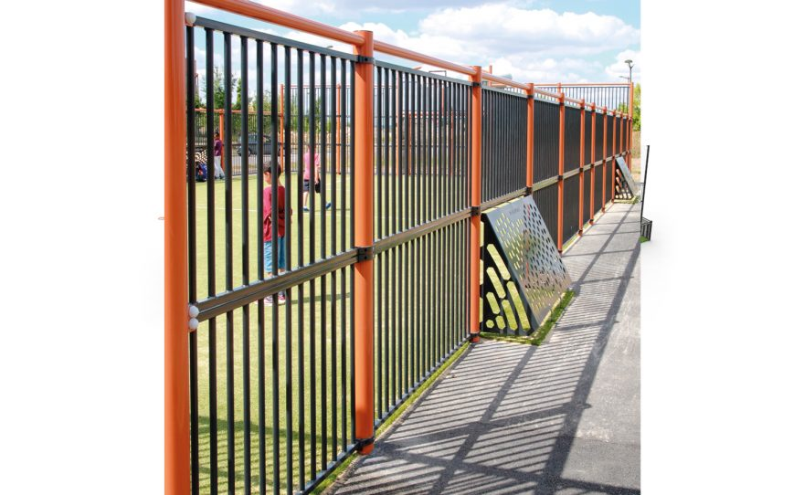 Multisport playground Deauville fence and Brazilian goal