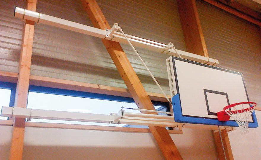 Wall mounted basketball for the competition custom-made Metalu Plast